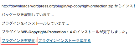 WP Copyright Protection導入3
